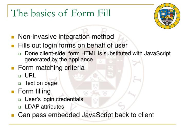 The basics of Form Fill