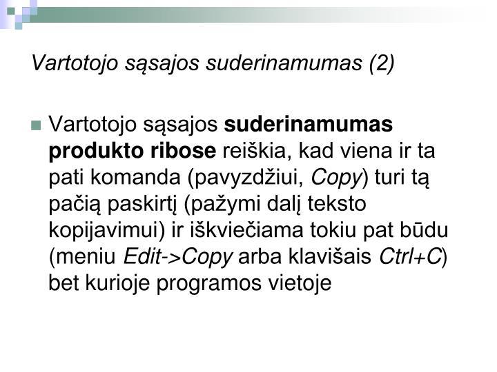 Vartotojo sąsajos suderinamumas (2)