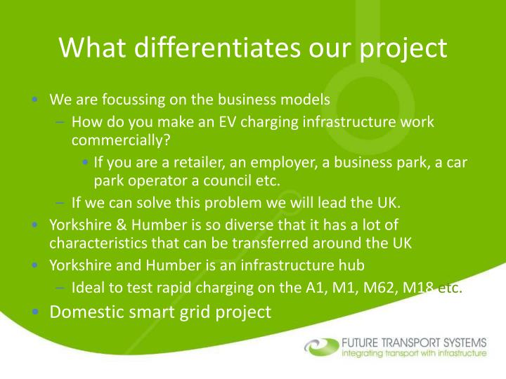 What differentiates our project