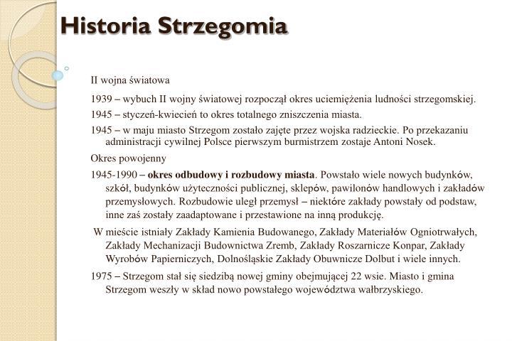 Historia Strzegomia