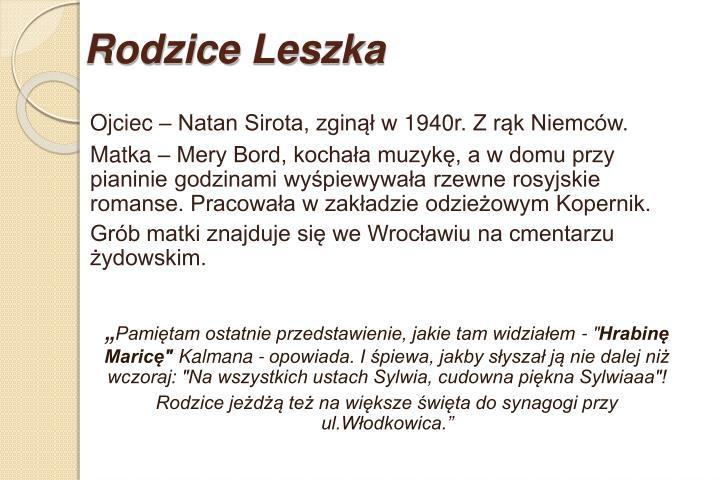 Rodzice Leszka