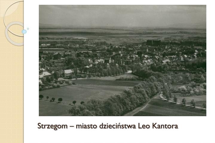 Strzegom – miasto dzieciństwa Leo Kantora