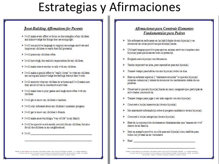 Estrategias y Afirmaciones