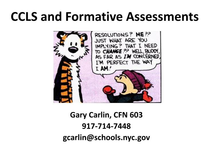 ccls and formative assessments n.