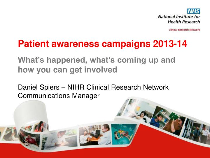 Patient awareness campaigns 2013-14