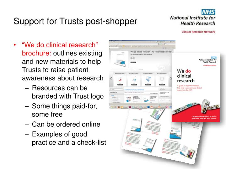 Support for Trusts post-shopper