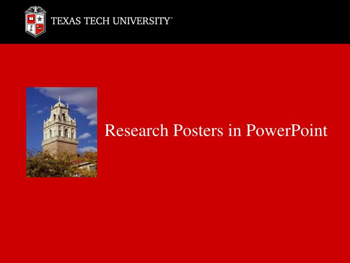 research posters in powerpoint n.