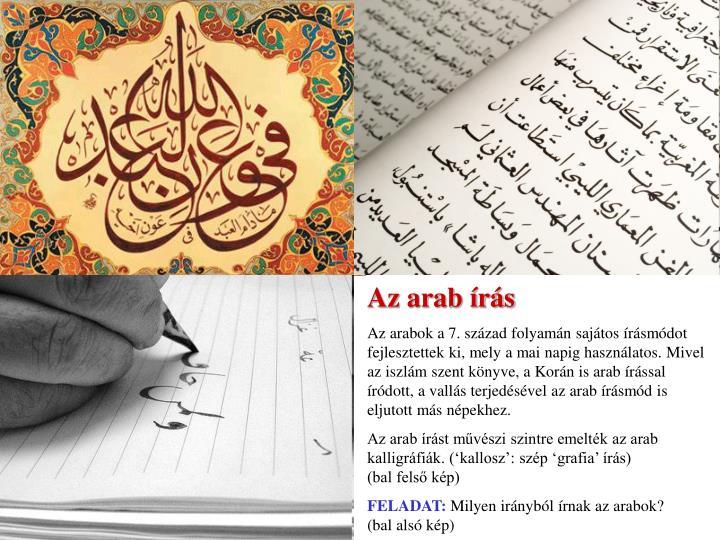 Az arab írás