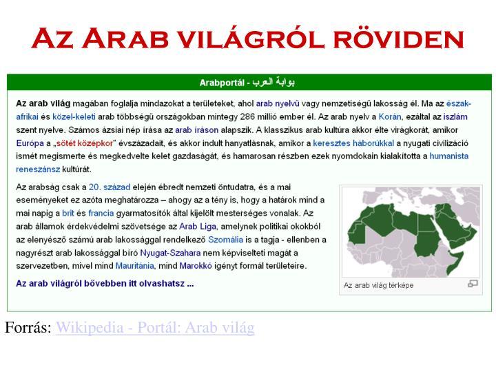 Az Arab világról röviden