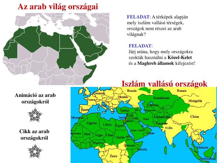 Az arab világ országai