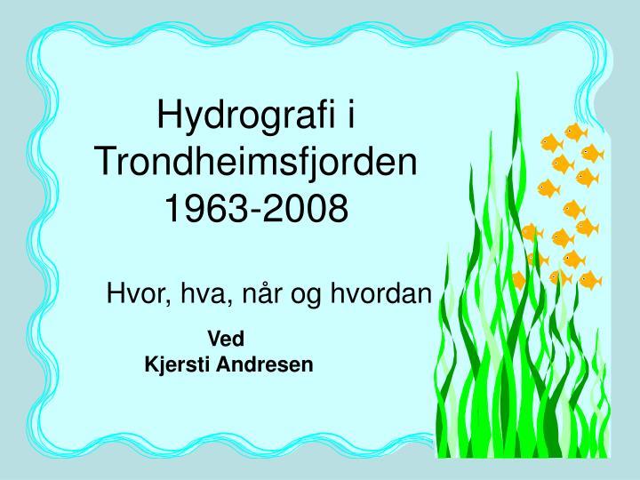Hydrografi i Trondheimsfjorden