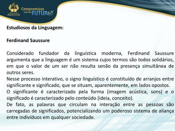 Estudiosos da Linguagem: