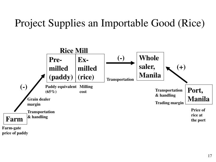 Project Supplies an Importable Good (Rice)