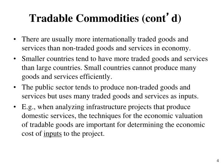 Tradable Commodities (cont