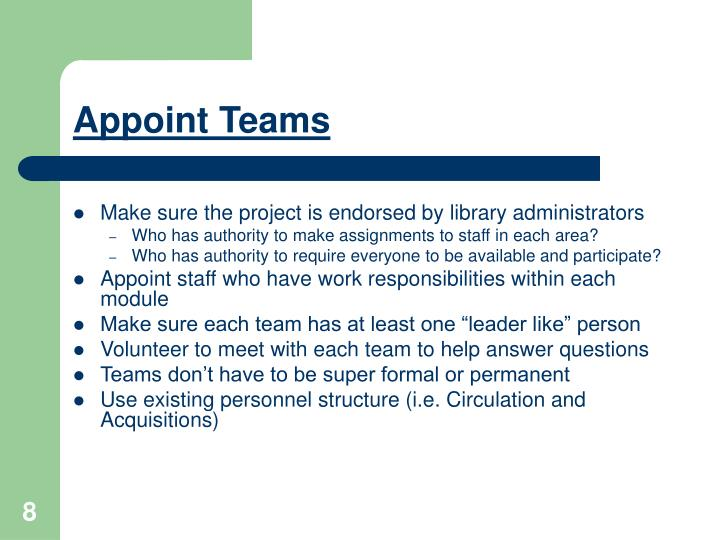 Appoint Teams