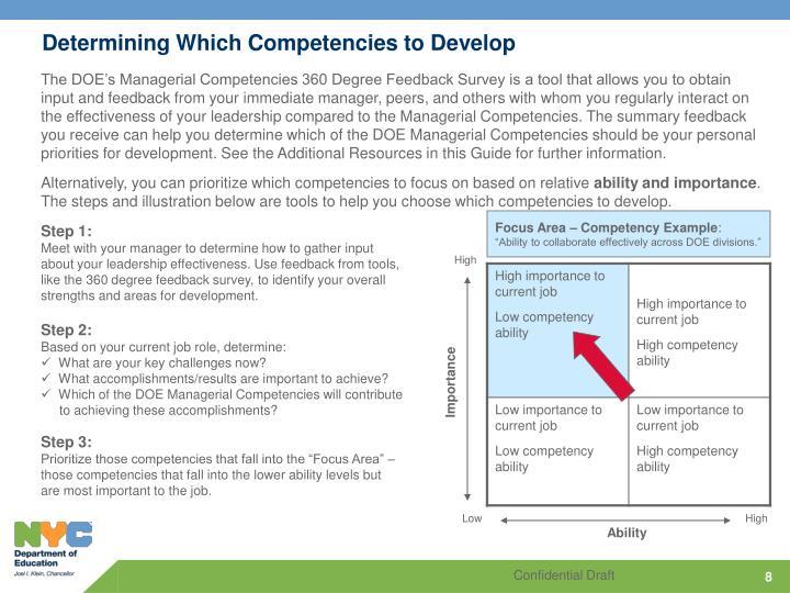 Determining Which Competencies to Develop