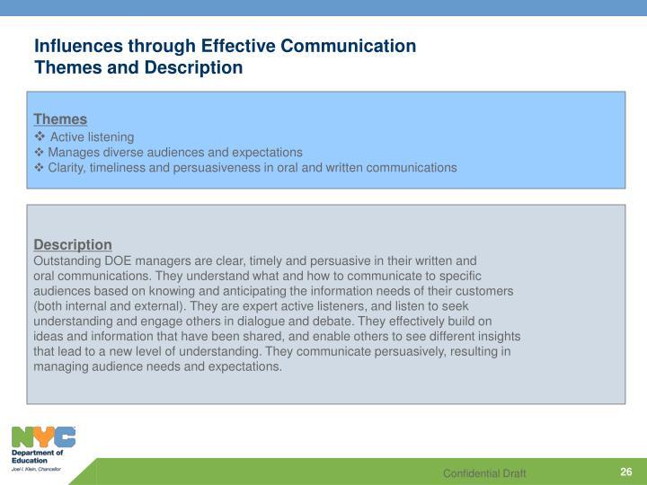 Influences through Effective Communication