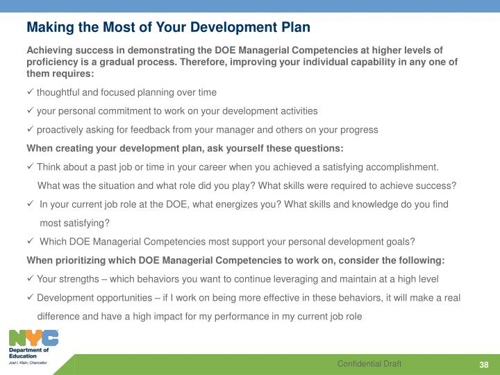 Making the Most of Your Development Plan