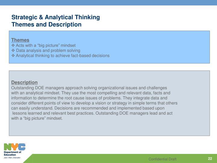 Strategic & Analytical Thinking
