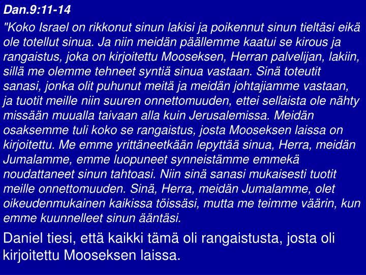Dan.9:11-14