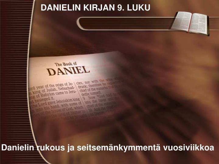 DANIELIN KIRJAN 9. LUKU