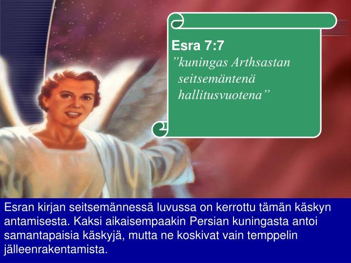 Esra 7:7