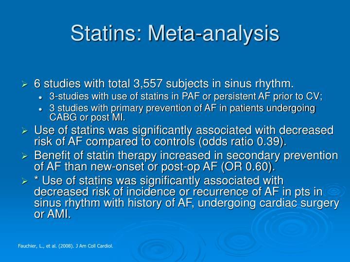Statins: Meta-analysis