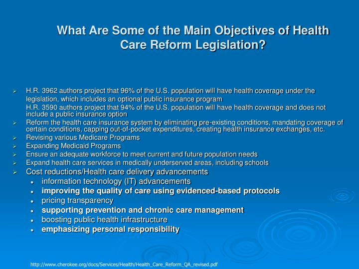 What Are Some of the Main Objectives of Health