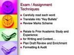exam assignment techniques