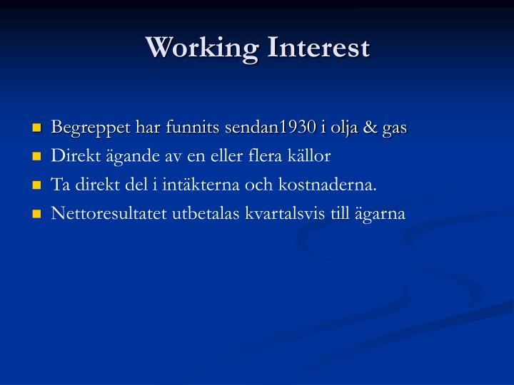 working interest n.