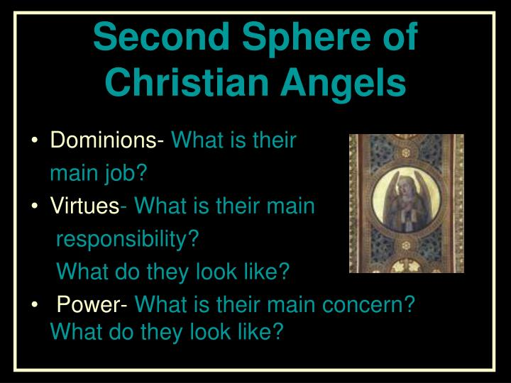 Second Sphere of Christian Angels