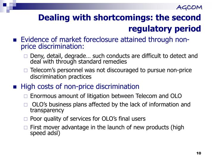 Dealing with shortcomings: the second regulatory period
