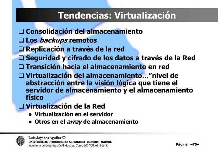 Tendencias: Virtualización