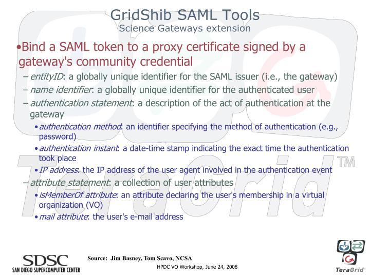 GridShib SAML Tools