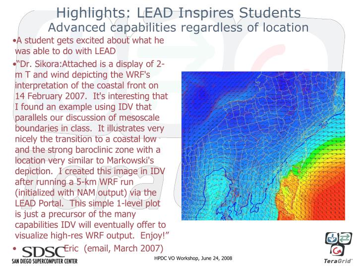 Highlights: LEAD Inspires Students