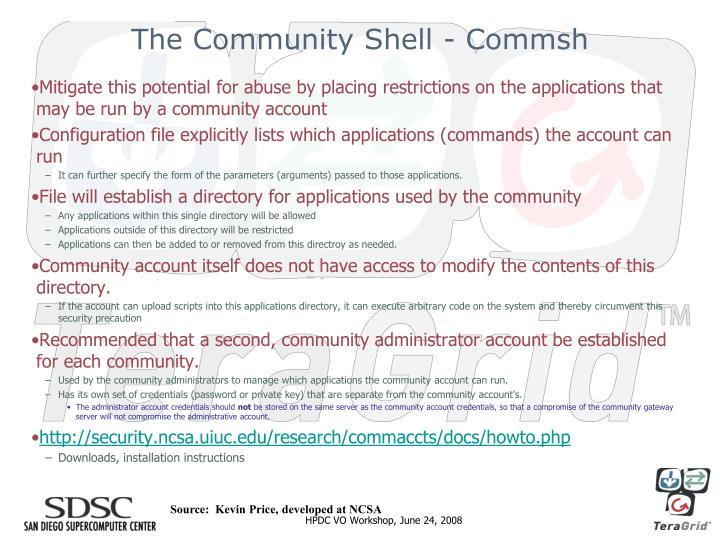 The Community Shell - Commsh