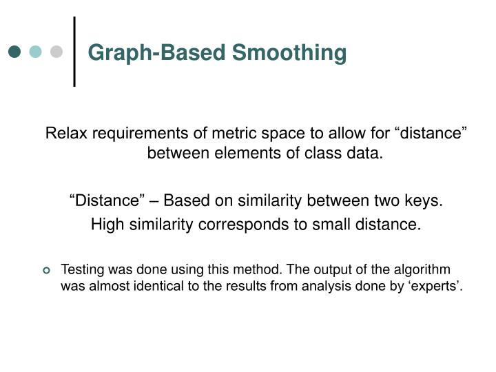 Graph-Based Smoothing