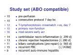 study set abo compatible