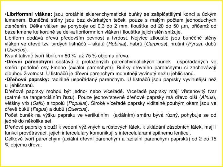 Libriformní vlákna: