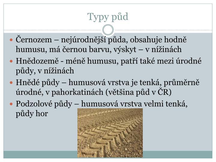 Typy půd