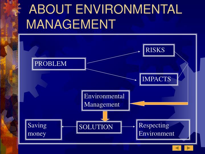 ABOUT ENVIRONMENTAL MANAGEMENT