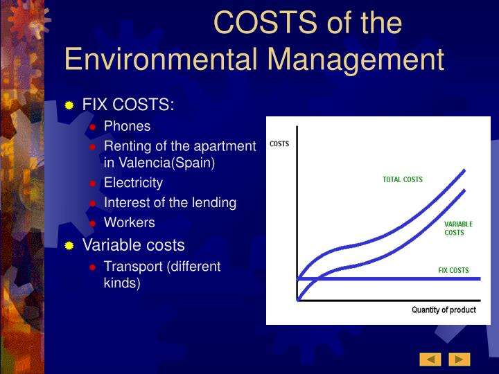 COSTS of the Environmental Management