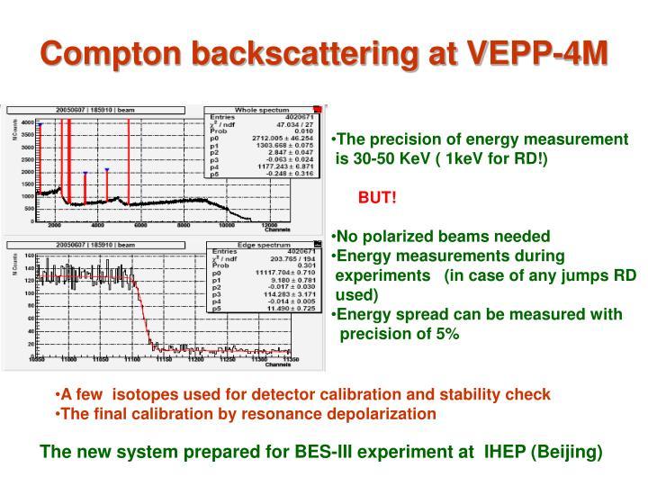 Compton backscattering at VEPP-4M