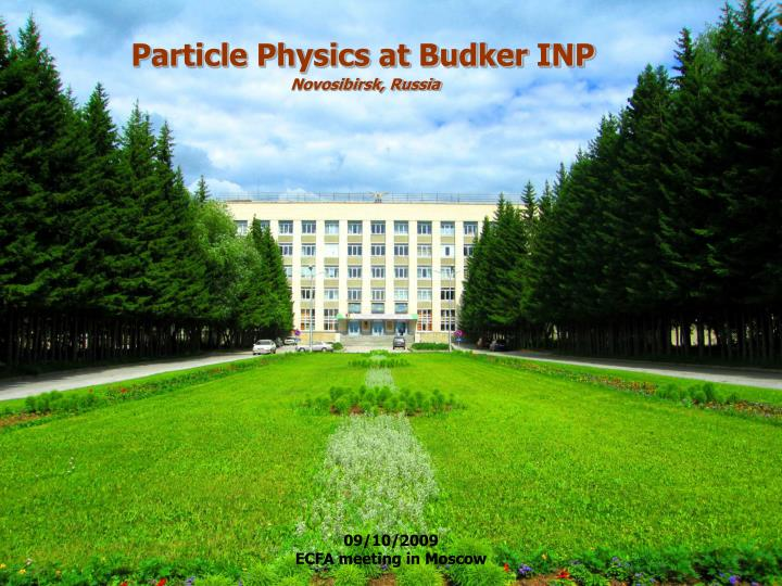 Particle Physics at Budker INP