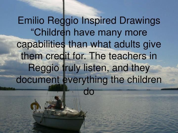Emilio Reggio Inspired Drawings