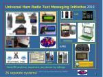 universal ham radio text messaging initiative 2010