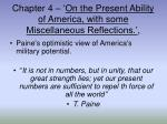 chapter 4 on the present ability of america with some miscellaneous reflections