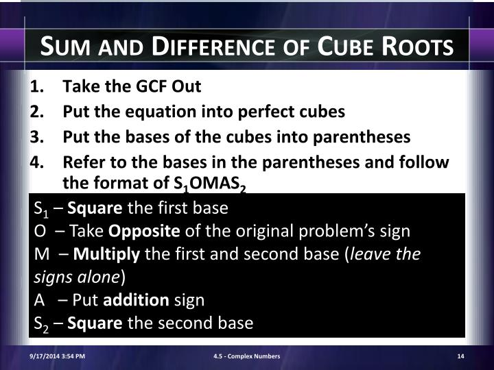 Sum and Difference of Cube Roots