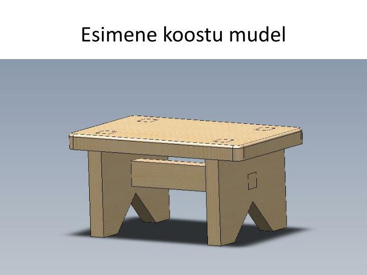 Esimene koostu mudel