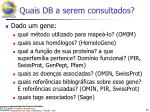 quais db a serem consultados1